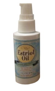Estriol Cream Oil 2oz Bottle for vaginal dryness due to menopause